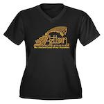 Aztlan Soul Women's Plus Size V-Neck Dark T-Shirt