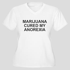 Marijuana Cured My Anorexia Women's Plus Size V-Ne