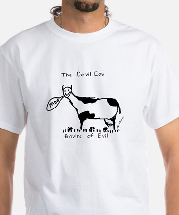 Devil Cow White T-Shirt