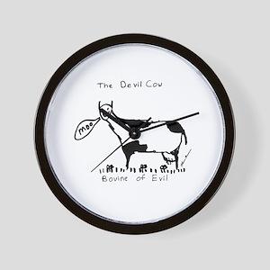 Devil Cow Wall Clock