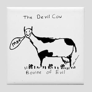 Devil Cow Tile Coaster