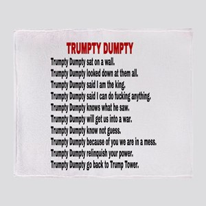 TRUMPTY DUMPTY Throw Blanket