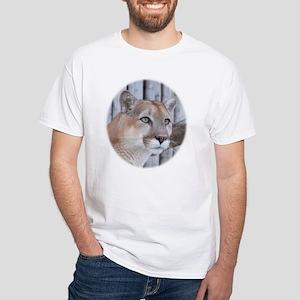Glancing Cougar White T-Shirt