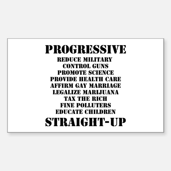 PROGRESSIVE, STRAIGHT UP - Rectangle Decal