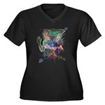 Tigerman Women's Plus Size V-Neck Dark T-Shirt