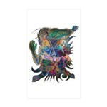 Tigerman Rectangle Sticker 50 pk)