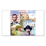America the Great Rectangle Sticker 10 pk)