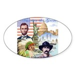 America the Great Oval Sticker