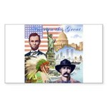 America the Great Rectangle Sticker