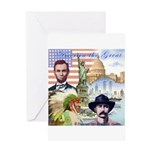 America the Great Greeting Card