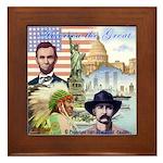 America the Great Framed Tile