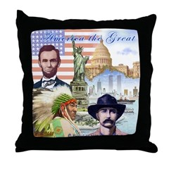 America the Great Throw Pillow