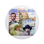 America the Great Ornament (Round)