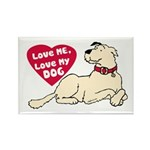 Love My Dog Rectangle Magnet (100 pack)