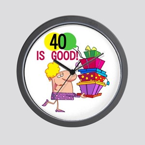 40 is Good Wall Clock