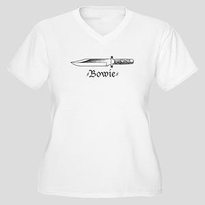 Bowie Knife Women's Plus Size V-Neck T-Shirt
