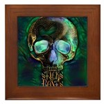 Sticks and Bones Skull2 Framed Tile