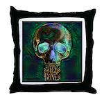 Sticks and Bones Skull2 Throw Pillow