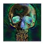Sticks and Bones Skull2 Tile Coaster