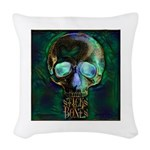 Sticks and Bones Skull2 Woven Throw Pillow