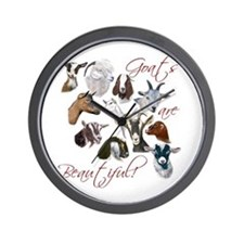 Goats are Beautiful Wall Clock