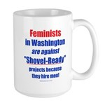 Shovel-Ready fight Large Mug