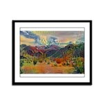 Jawbone Canyon - Mojave Desert Framed Panel Print