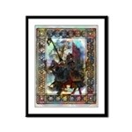 Knight & Castle Framed Panel Print