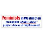 Shovel-Ready fight (Bumper Sticker)