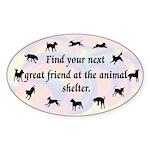 Next Great Friend Oval Sticker (10 pk)