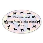 Next Great Friend Oval Sticker