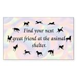 Next Great Friend Rectangle Sticker