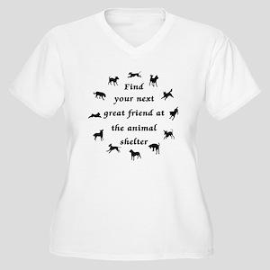 Next Great Friend Women's Plus Size V-Neck T-Shirt