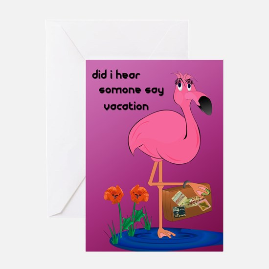 Fanny Flamingo Greeting Card