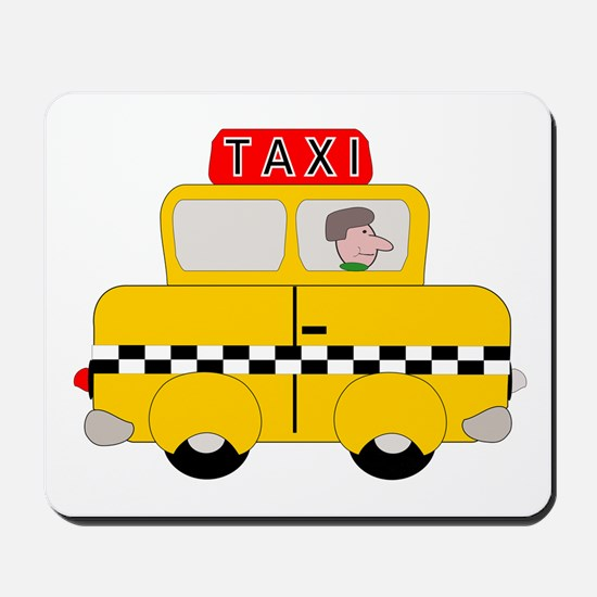 Yellow Taxi Mousepad