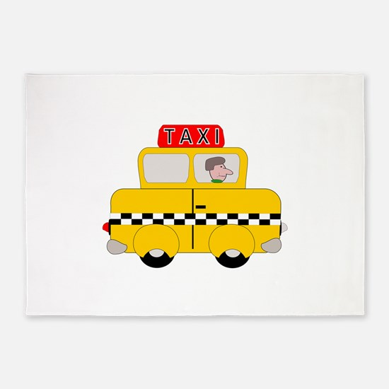 Yellow Taxi 5'x7'Area Rug