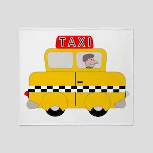 Yellow Taxi Throw Blanket