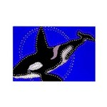 Whale Song Rectangle Magnet (100 pack)