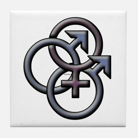 MFM SWINGERS SYMBOL GRAY Tile Coaster
