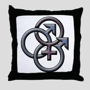MFM SWINGERS SYMBOL GRAY Throw Pillow