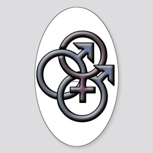 MFM SWINGERS SYMBOL GRAY Oval Sticker