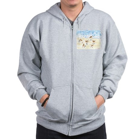 Sandpipers on Old Orchard Bea Zip Hoodie