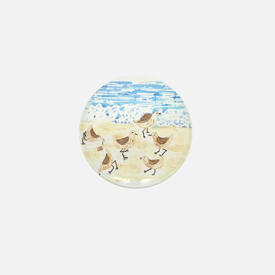 Sandpipers on Old Orchard Bea Mini Button