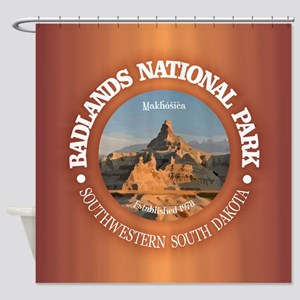 Badlands NP Shower Curtain
