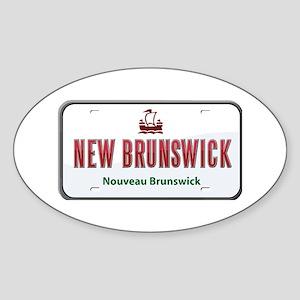 New Brunswick Plate Oval Sticker