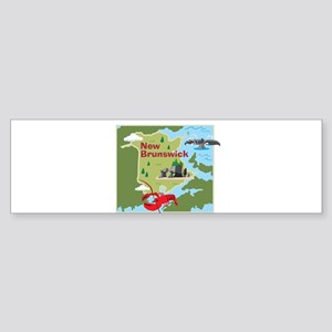 New Brunswick Map Bumper Sticker