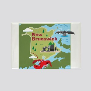 New Brunswick Map Rectangle Magnet