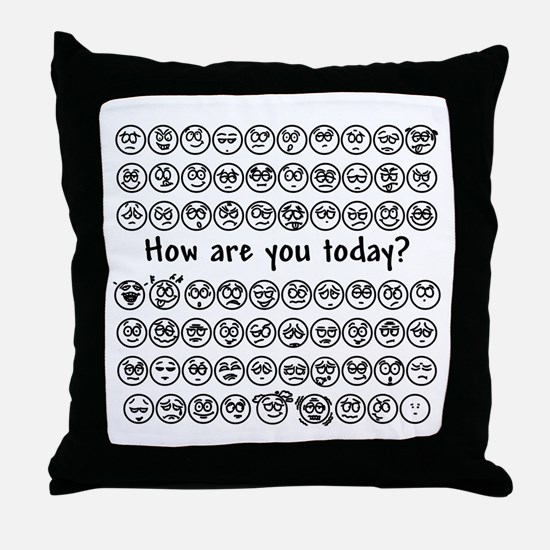 Emotions Throw Pillow