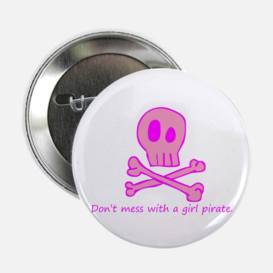 "Pink Pirate 2.25"" Button"