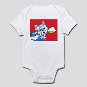 White Wine Westie Infant Bodysuit